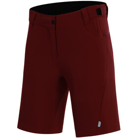 Protective P-Valley Cycling Shorts Women, deep red